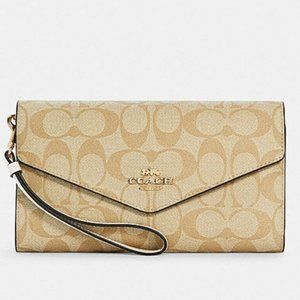COACH Large Wallet In Signature Canvas